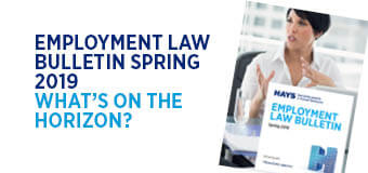 Employment Law Bulletin Spring 2019